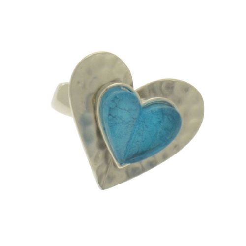Miss Milly Aqua Heart Ring